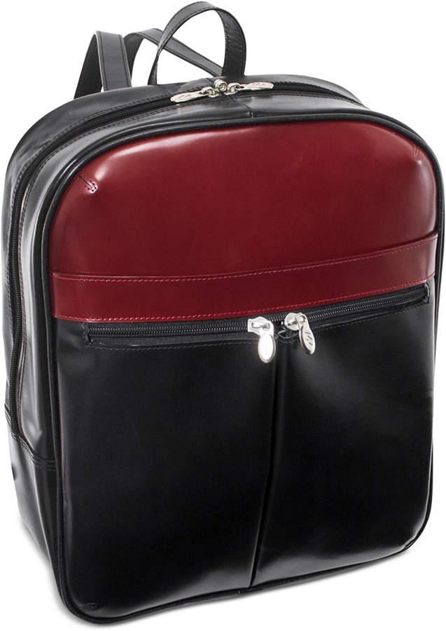 "McKlein Edison 14"" Leather Laptop Backpack"