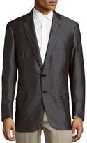 Brioni Wool & Silk Long Sleeve Blazer
