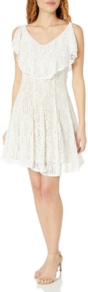 Julian Taylor Women's All Over Lace Fit and Flare Dress