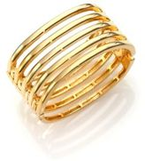 Kenneth Jay Lane Caged Five-Row Cuff Bracelet