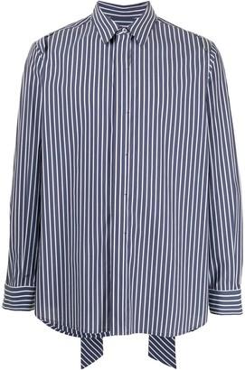SONGZIO Stripe-Pattern Buttoned Shirt