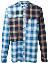 Lanvin patchwork check shirt