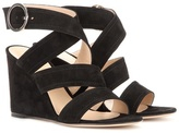 Gianvito Rossi Rylee suede wedge sandals