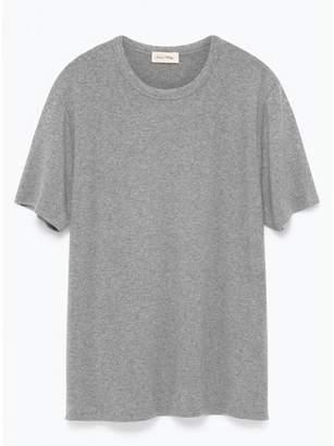 American Vintage Light Gray Cotton V Neck Jacksonville T Shirt - XS/S - Grey
