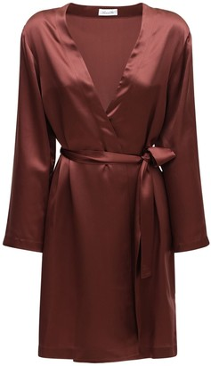 Luna Di Seta Silk Satin Short Robe