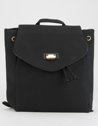 Faux Suede Black Mini Backpack