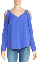 1 STATE Cold Shoulder V-Neck Blouse