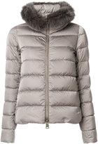 Herno faux fur collar padded jacket - women - Polyamide/Polyester - 42