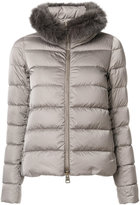 Herno faux fur collar padded jacket