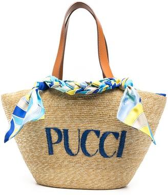 Emilio Pucci Embroidered Logo Tote Bag
