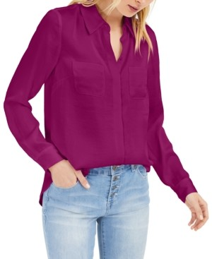 INC International Concepts Inc Satin Utility Shirt, Created for Macy's