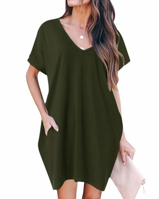 ZANZEA Women's Sexy Casual Loose Long Sleeve Jumper Baggy V-Neck Tops Blouse T-Shirt 18