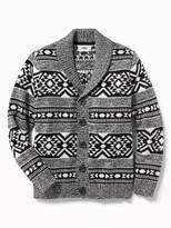 Old Navy Shawl-Collar Fair Isle Cardigan for Boys