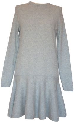 Ganni Blue Wool Dresses