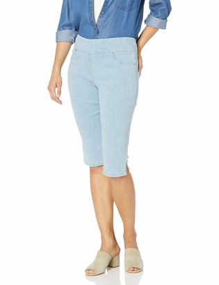 Ruby Rd. Women's Petite Pull-on Extra Stretch Denim Clamdigger