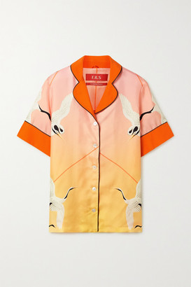 F.R.S For Restless Sleepers Bendis Printed Silk-twill Shirt - Pastel pink