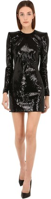 DSQUARED2 Long Sleeve Sequined Dress