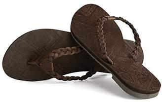 Urban Beach Women's Trondra Leather Flip Flops, Brown (Brown), 39/40 EU