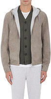 Brunello Cucinelli Men's Suede Hooded Bomber Jacket