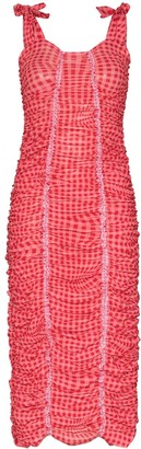 Molly Goddard Severine ruched gingham-print dress
