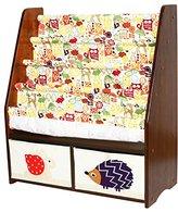 MallBoo Solid Wood Kids Toy Sling Bookcase Book Rack Corner Bookshelf (Snail Hedgehog(C))