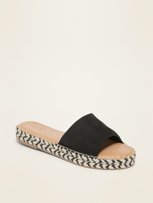 Old Navy Faux-Suede Espadrille Slide Sandals for Women