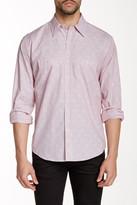 Lorenzo Uomo Spread Collar Long Sleeve Modern Fit Printed Shirt