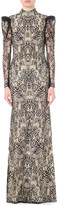 Alexander McQueen Lace-embroidered cotton-blend gown