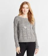 Aeropostale Womens Open-Stitch Sweater
