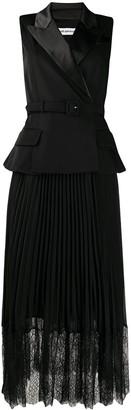 Self-Portrait Tailored Crepe Midi Dress