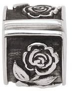 Persona Rose Lock Charm fits Pandora, Troll & Chamilia European Charm Bracelets