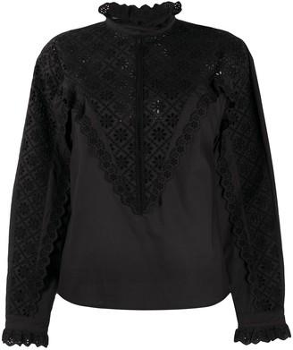 Philosophy di Lorenzo Serafini Cotton Embroidered Long Sleeve Shirt