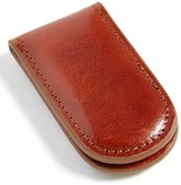 Bosca Men's Leather Money Clip - Brown