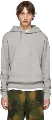 Off-White Off White Grey Logo Slim Hoodie