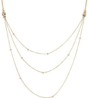 David Yurman Stax Black Spinel & 18K Gold Necklace with Diamonds