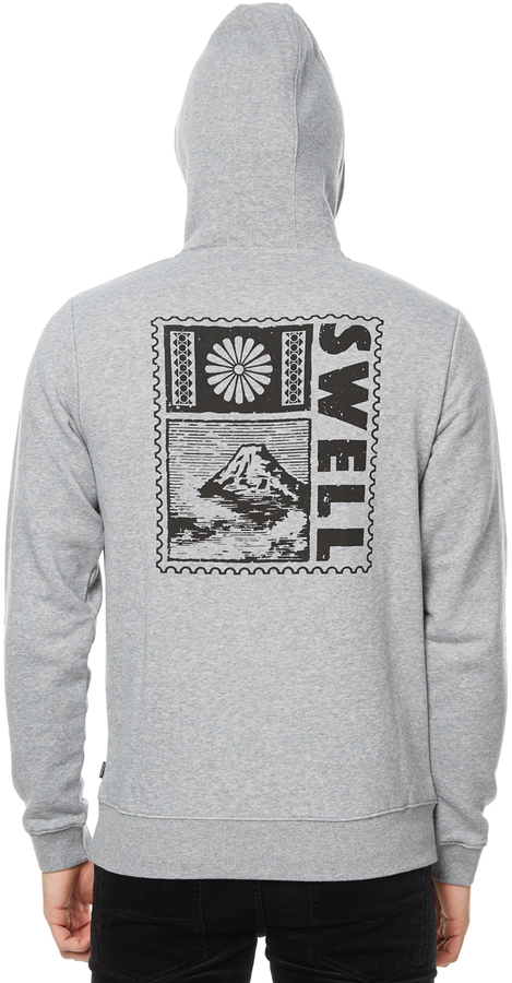 Swell Greetings From Mens Fleece Grey