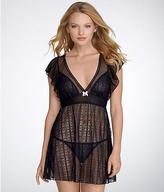 Betsey Johnson Chapel Lace Babydoll Set