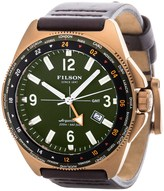 Filson Journeyman GMT Watch - Leather Band (For Men)