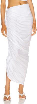 Norma Kamali Diana Long Skirt in White | FWRD