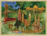 Caspari Christmas Train Scene Holiday Cards, Box of 16