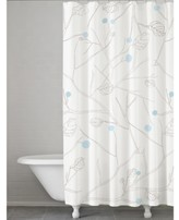 Kassatex Poppy Botanical-Print Shower Curtain