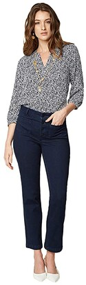 NYDJ High Rise Marilyn Straight Ankle Jeans in Rinse (Rinse) Women's Jeans