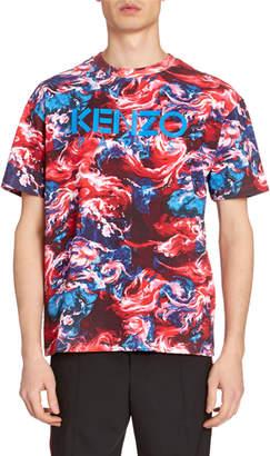 Kenzo Men's Painted Graphic T-Shirt