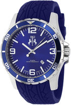 Jivago Ultimate Mens Blue Silicone Strap Watch