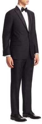 Emporio Armani Black Tonal Fancy G Line Peak Tuxedo