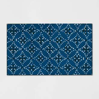 "Threshold 1'6""X2'6""/18""X30"" Shibori Doormat Blue"