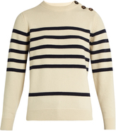 MiH Jeans Sophia breton-striped cashmere crew-neck sweater