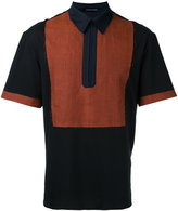 Consistence raw edge polo shirt