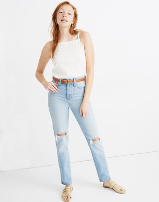 Madewell Petite Classic Straight Full-Length Jeans in Hartsville Wash