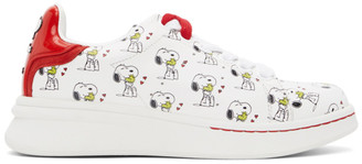 Marc Jacobs White and Red Peanuts Edition The Tennis Shoe Sneakers